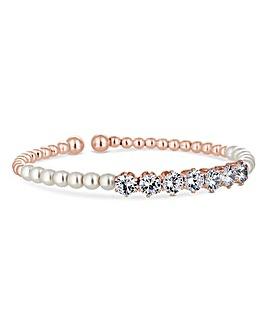 Jon Richard Rose Gold Twist Bracelet