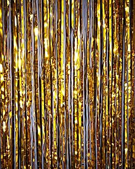 Metallic Fringe Curtain