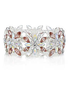 Mood Crystal Floral Statement Bracelet