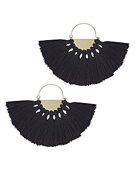 Mood Oversized Fringe Hoop Earring