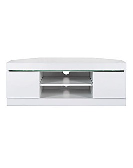 Halo High Gloss Corner TV Unit with LED Lights
