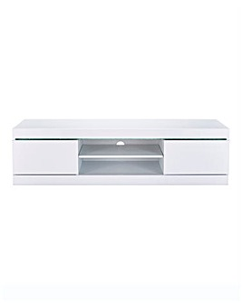 Halo High Gloss Wide TV Unit with LED Lights