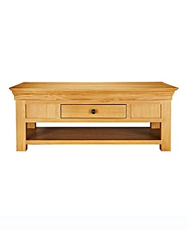 Malvern Oak and Oak Veneer Coffee Table