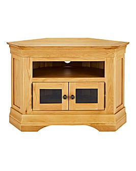 Malvern Oak Veneer Corner TV Unit