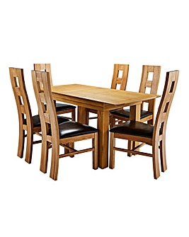 Malvern Oak Table and 6 Rutland Chairs