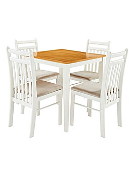Southwold Compact Dining Table 4 Chairs