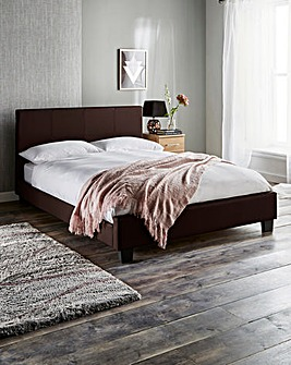 Madison Kingsize Faux Leather Bedstead