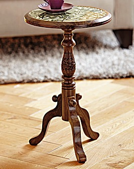 Three Legged Table with Floral Print