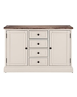 Ashdawn Grey 2 Door 4 Drawer Sideboard