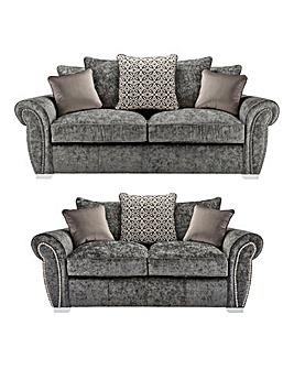 Marseille Pillowback 3 plus 2 Seater Sofa