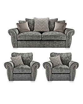 Marseille Pillowback 3 Seater Sofa plus 2 Chairs