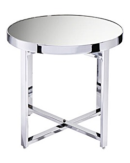 Ayla Mirrored Side Table
