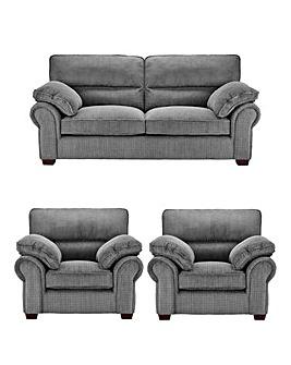 Wadebridge 3 Seater Sofa plus 2 Chairs