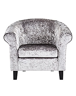 Boutique Scroll Arm Accent Chair