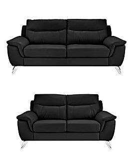 San Remo Leather 3 plus 2 Seater Sofa