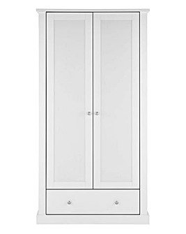 Tiverton 2 Door 1 Drawer Wardrobe