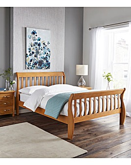 Aubrey Bed with Quilted Mattress