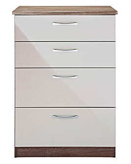 Sloane Gloss Assembled 4 Drawer Chest