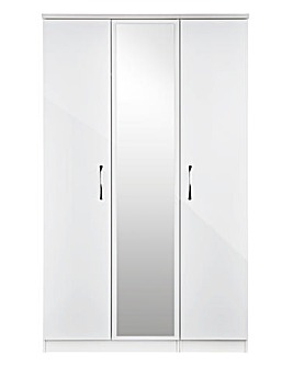 Sloane 3 Door Wardrobe with Mirror