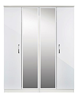 Sloane 4 Door Wardrobe with Mirror