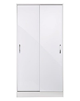 Sloane High Gloss Sliding Wardrobe
