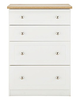 Clovelley Assembled 4 Drawer Deep Chest
