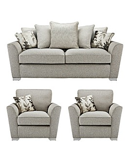 Eloise Pillowback 3 Seater + 2 Chairs