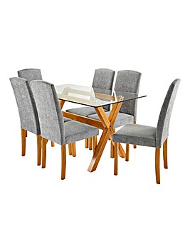 Albany Rectangular Table 6 Ava Chairs