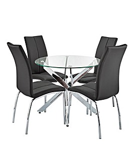 Meridien Circular Table 4 Zander Chairs