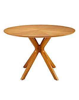Sunburst Circular Dining Table