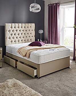 Silentnight Lunar 1000 Pocket Divan Set with 4 Drawers