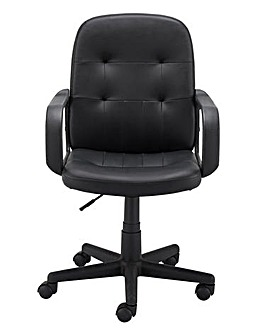 Parker Faux Leather Gaslift Office Chair