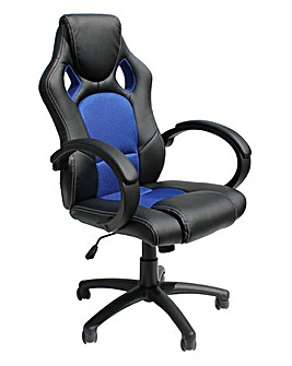Silverstone Faux Leather Racing Chair