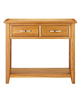 Norfolk Oak and Oak Veneer Console Table