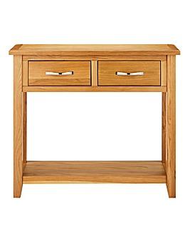 Norfolk Oak and Oak Veneer Console Table