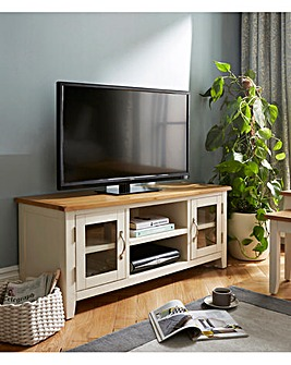 Norfolk Two Tone Oak and Oak Veneer Large TV Unit