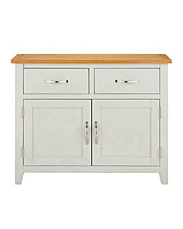 Norfolk Two Tone Oak and Oak Veneer 2 Door 2 Drawer Sideboard
