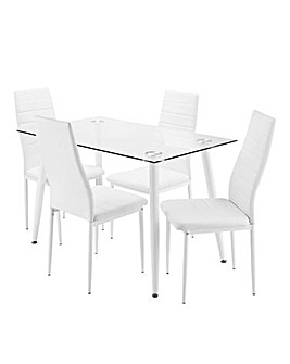 Rio Dining Table and 4 Chairs