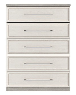 Sorrento Soft Close 5 Drawer Wide Chest