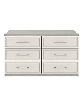 Sorrento Soft Close 6 Drawer Wide Chest