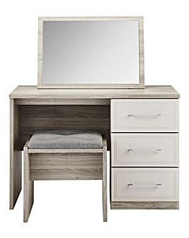Sorrento Dressing Table, Stool & Mirror