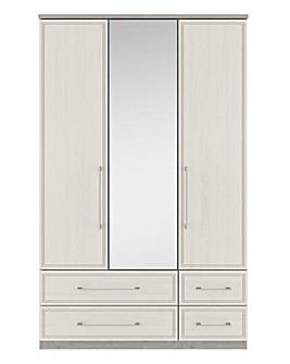 Sorrento 3 Door 4 Drawer Mirror Wardrobe