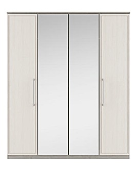 Sorrento Soft Close 4 Door Wardrobe