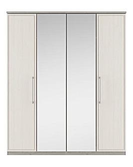 Sorrento Soft Close 4 Door Wardrobe