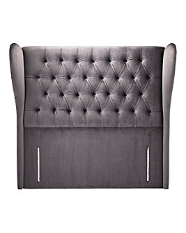 Vicenza Velvet Winged Headboard