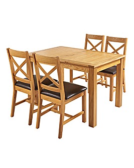 Norfolk Large ExtendingTable 4 Chairs