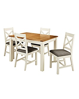 Norfolk Large Extending Table 4 Chairs