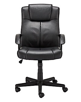 Glide Faux Leather Gaslift Office Chair