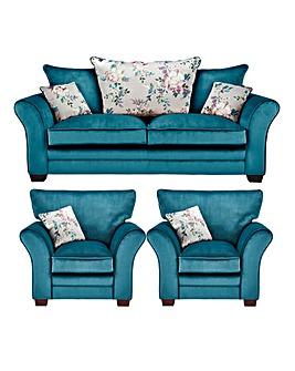 Georgia 3 Seater Sofa plus 2 Chairs