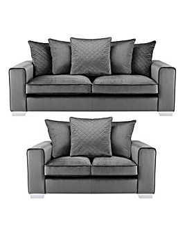 Luciano 3 plus 2 Seater Pillowback Sofa